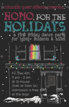 First Friday: Homo for the Holidays!