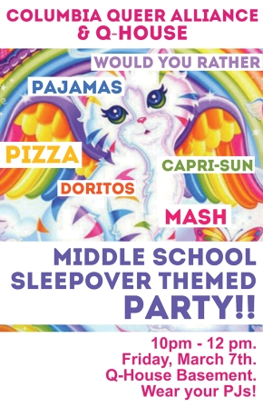 "CQA & Q-House ""Sleepover"" Tonight!"